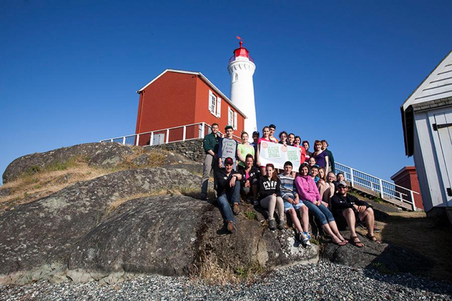 Fisgard Lighthouse National Historic Site at Fort Rodd Hill, B.C..
