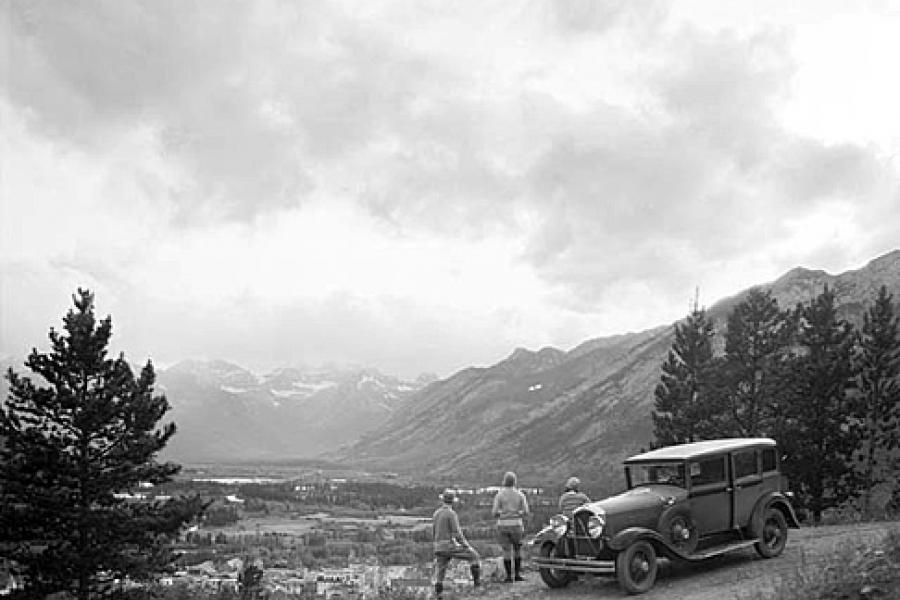 View of Banff from Tunnel Mountain, William J. Oliver, Library and Archives Canada/ PA-057241