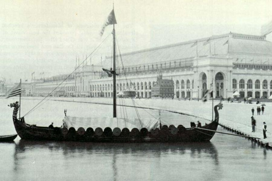 Gokstad Viking ship replica at the World's Columbian Exposition Chicago in 1893