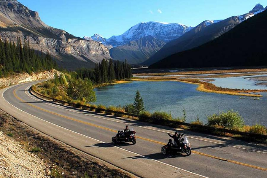 A motorcycle tour through Jasper