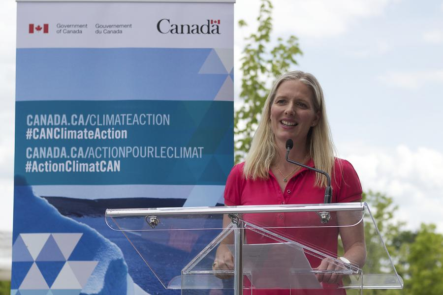 Catherine McKenna, Minister of Environment and Climate Change Canada