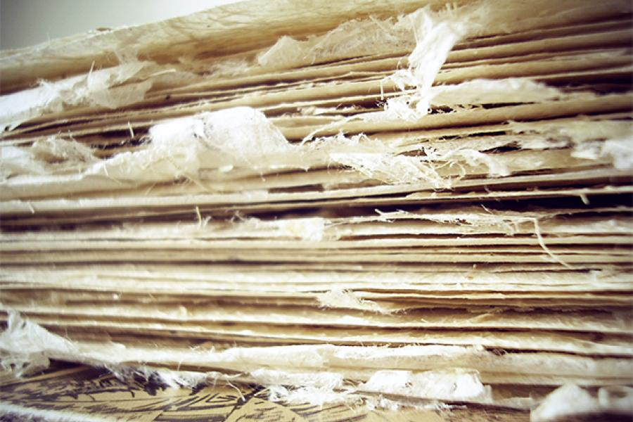 Banana tree fibre paper