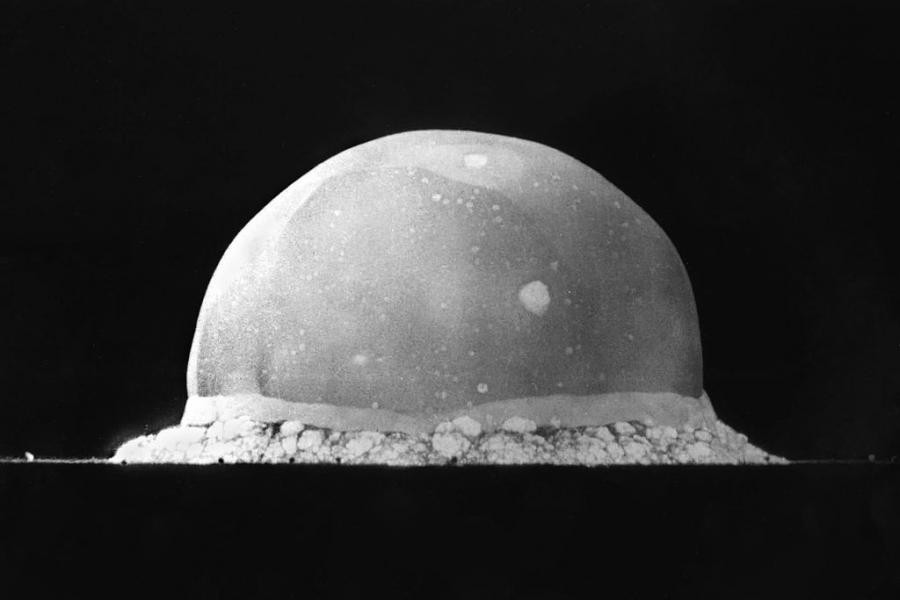 The Trinity Test nuclear bomb fireball