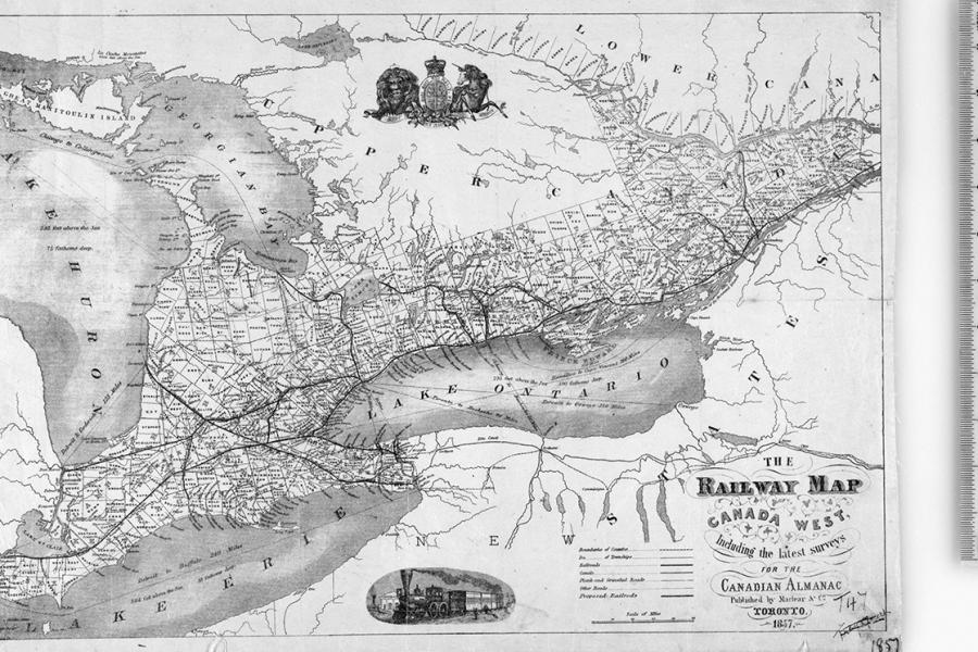 Maclear & Co.'s Railway Map of Canada West