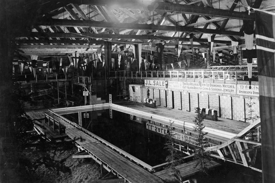 Dawson City's old swimming pool