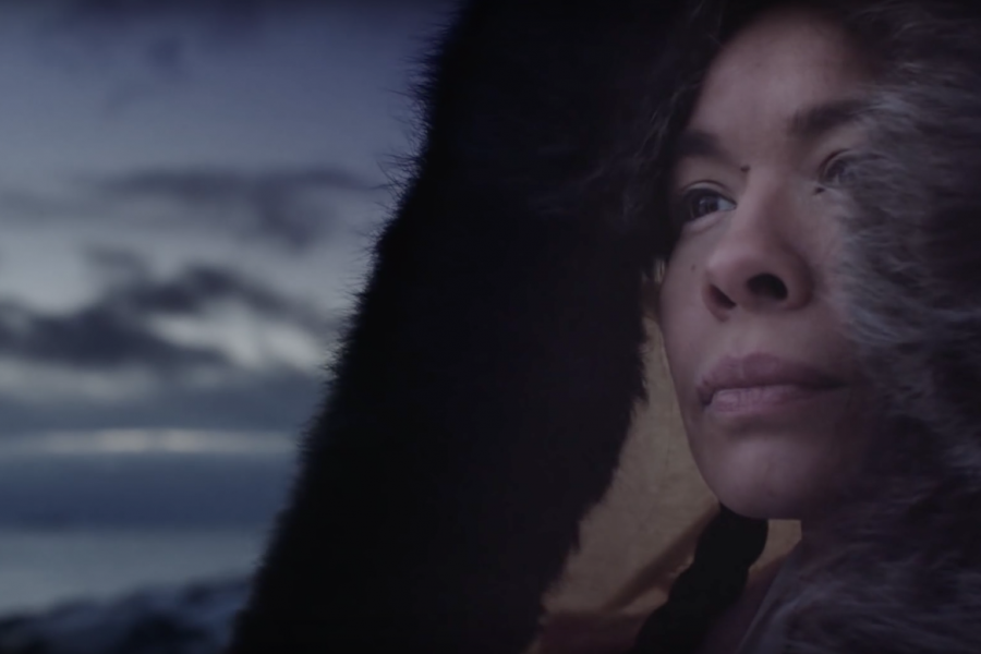 Still from the Kenojuak Ashevak Heritage Minute by Historica Canada