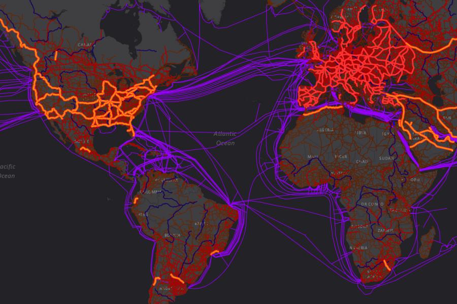 connectivity map communication transportation