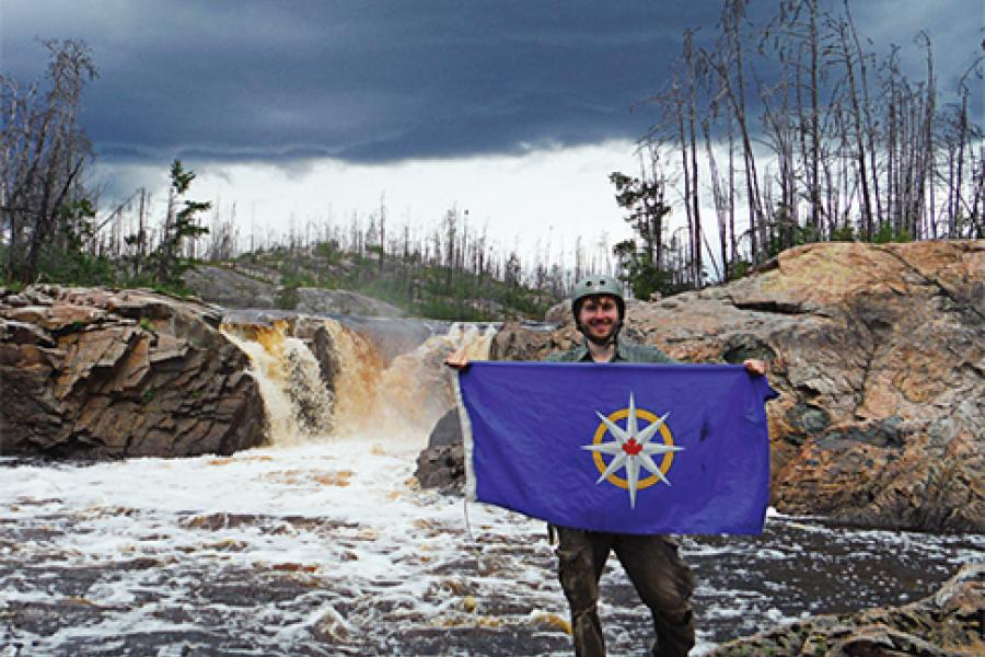 Adam Shoalts mapped five uncharted waterfalls for a 2013 RCGS expedition