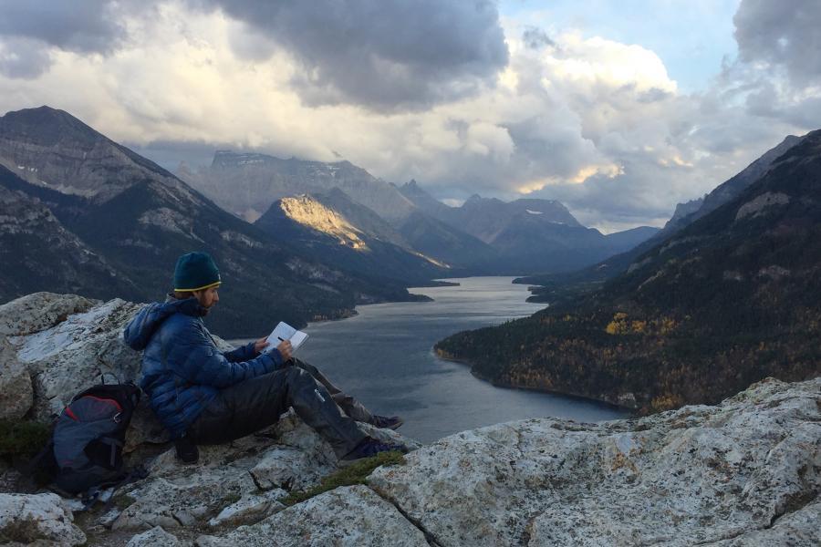 Adam Shoalts in Waterton Lakes National Park