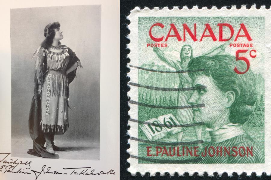 E. Pauline Johnson, postage stamp