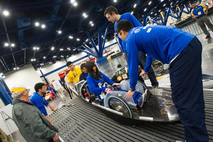 Supermileage Team from University of Toronto Shell Eco-marathon Americas