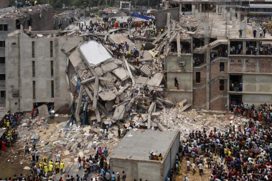 Collapse of a garment factory in Dhaka, Bangladesh