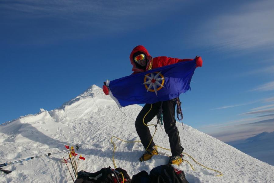 James Coleridge on the summit of Mount Logan, June 3, 2008