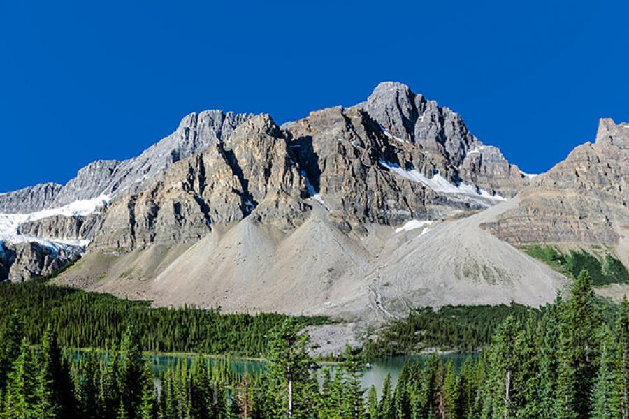 Bow Lake area near the Icefields Parkway in Alberta