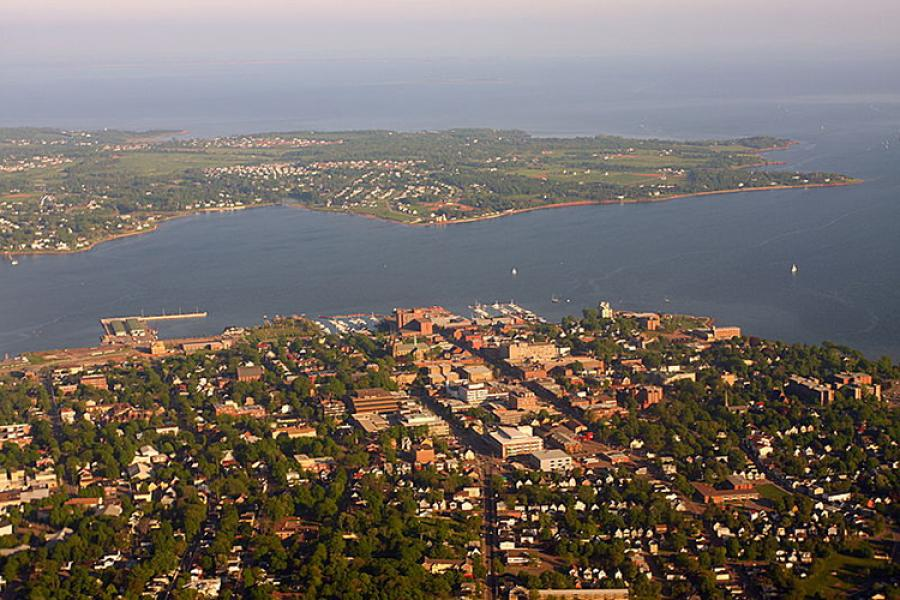Aerial view of Charlottetown