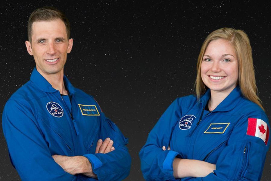 Joshua Kutryk Jenni Sidey Canadian Space Agency astronauts