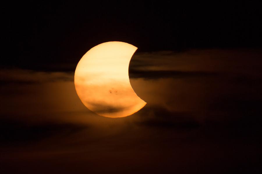 Partial solar eclipse October 23 2014