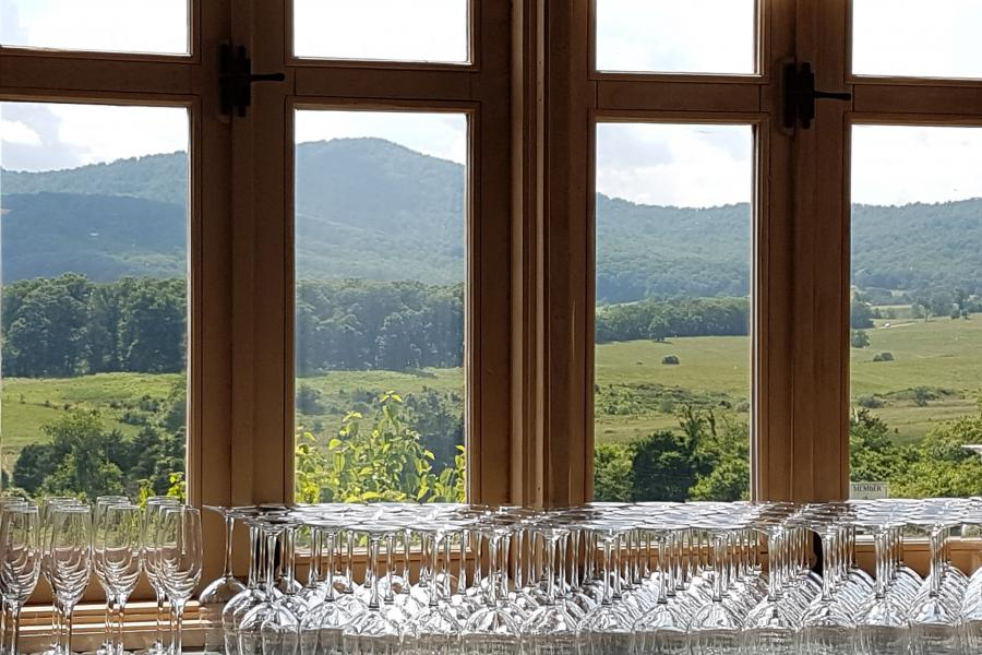 wine glass, wine, Shenandoah valley, mountains, Virginia, winery, vineyard