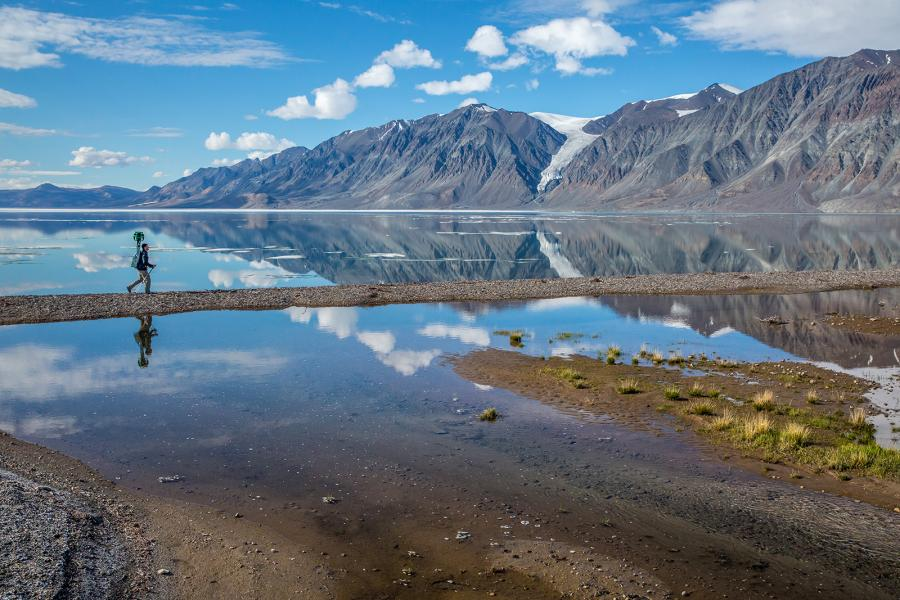 Google Trekker at Tanquary Fiord Quttinirpaaq National Park