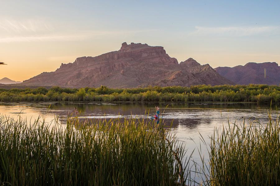 Paddling on the lower salt river, mesa arizona