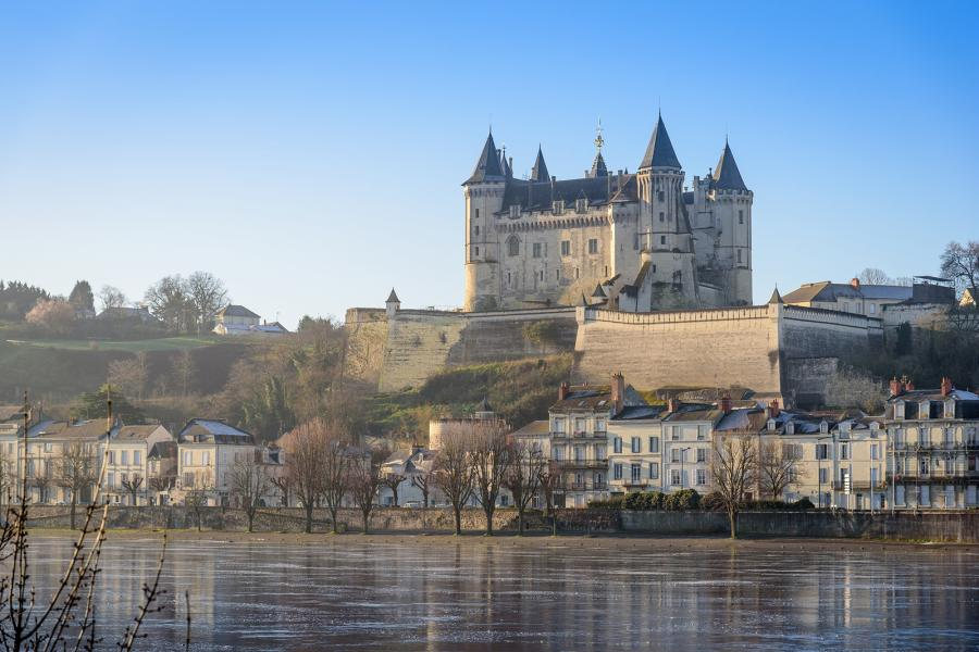 chateau de saumur and the town of saumur
