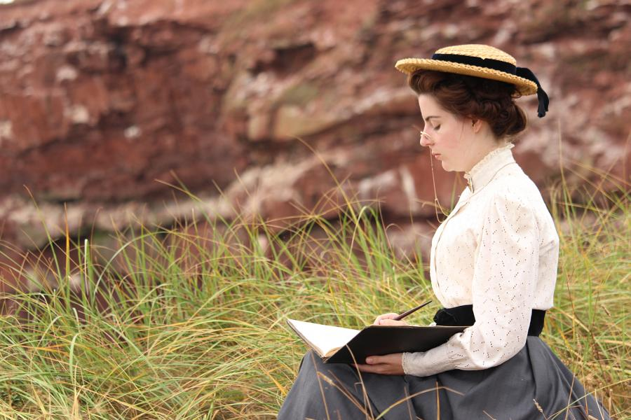Meghan Greeley as Lucy Maud Montgomery in Historica Canada's newest Heritage Minute