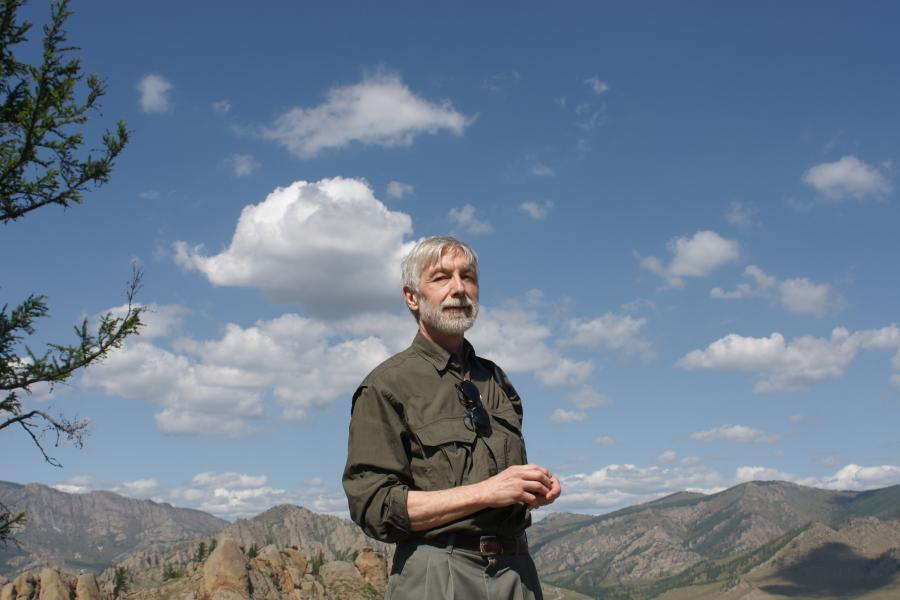 Michael Gervers in Ethiopia, where he has been studying traditional Christian churches cut into the sandstone landscape