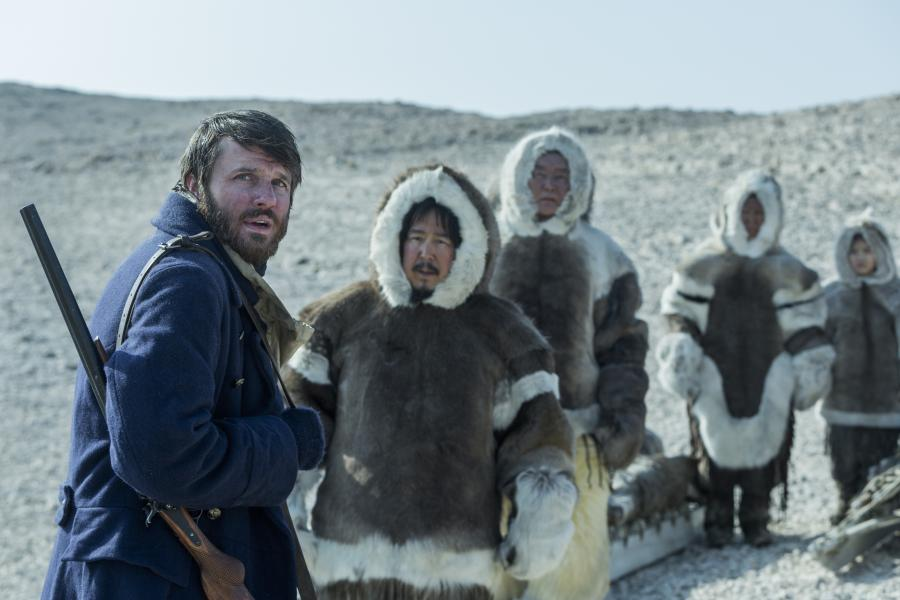 Lieutenant John Irving (played by Ronan Raftery) encounters a group of Inuit — and an all-too-brief moment of hope — on King William Island in Episode 7 of The Terror.