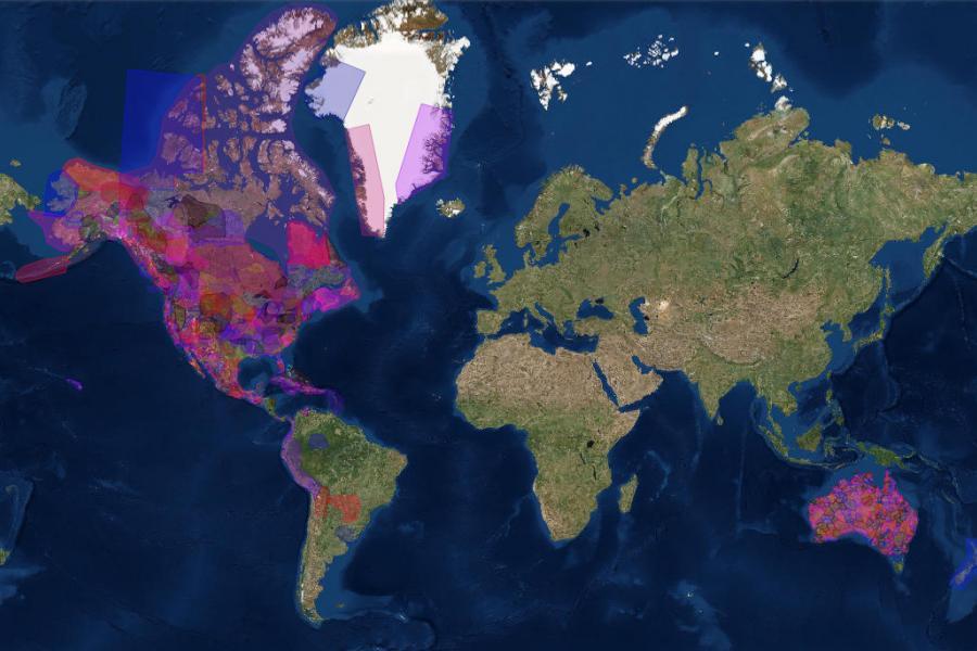 A screenshot of the native-land.ca map