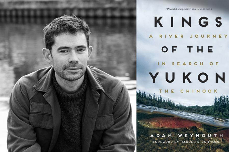 Left: Adam Weymouth author photo. Right: Book cover Kings of the Yukon