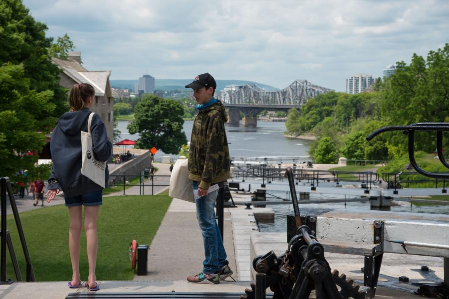 Students at Ottawa's Rideau Canal locks