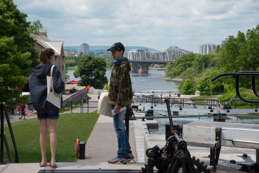 Students at Ottawa's Rideau Canal locks