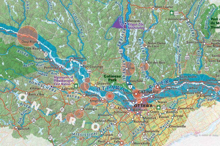 Ottawa River, watershed, environment
