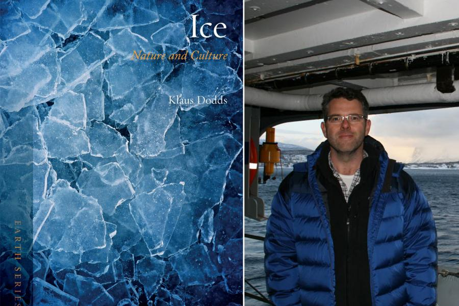 Cover of new book ICE, with author photo of Klaus Dodds