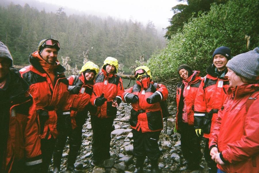 Ocean Bridge participants in Haida Gwaii