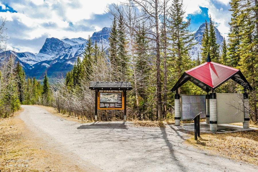 Canmore Alberta as seen from The Great Trail
