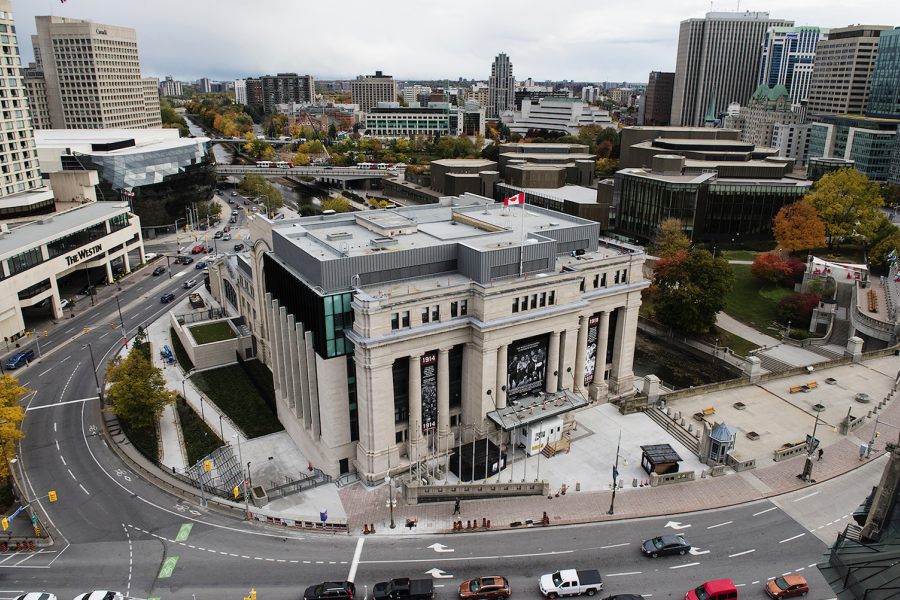 Following an extensive renovation, the old downtown Ottawa train station has re-opened as the temporary home of the Senate of Canada. (Photo courtesy Senate of Canada)
