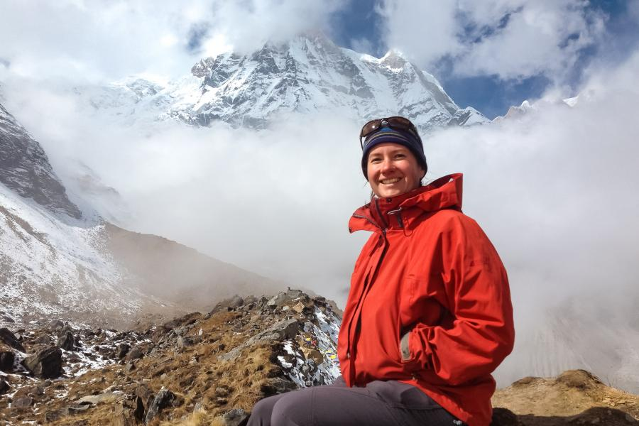 Calgary teacher hiking in Nepal