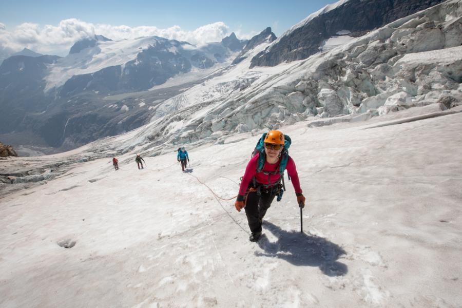 Climbing Hallam Glacier