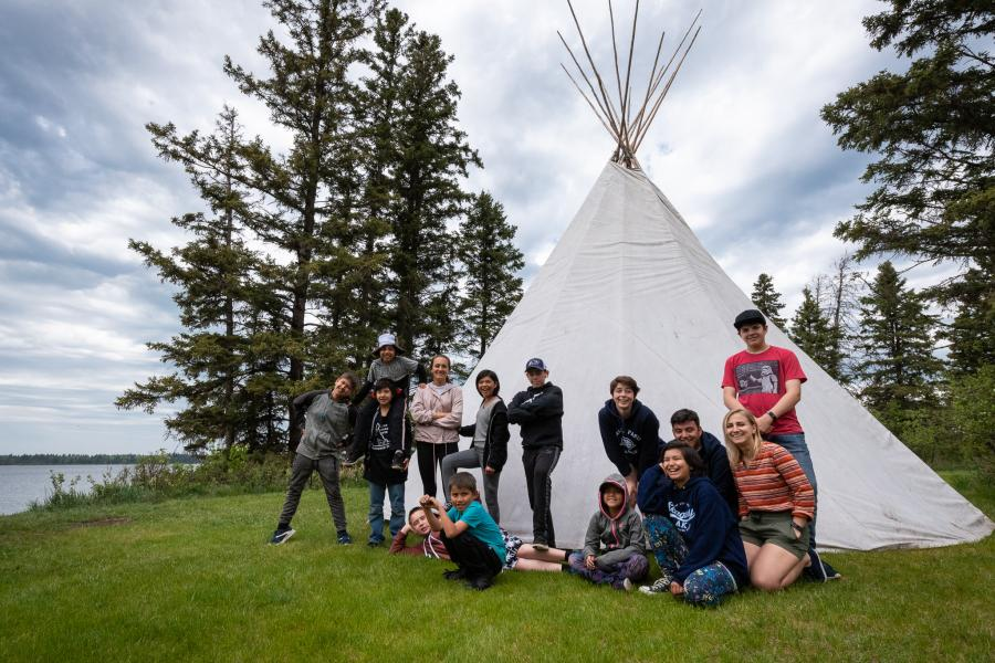 Canada's Coolest School Trip building a teepee in Riding Mountain National Park