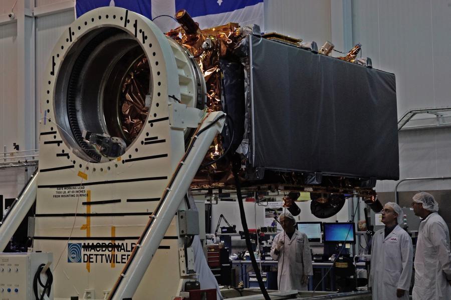 RADARSAT constellation mission satellite at MacDonald Dettwiler and Associates