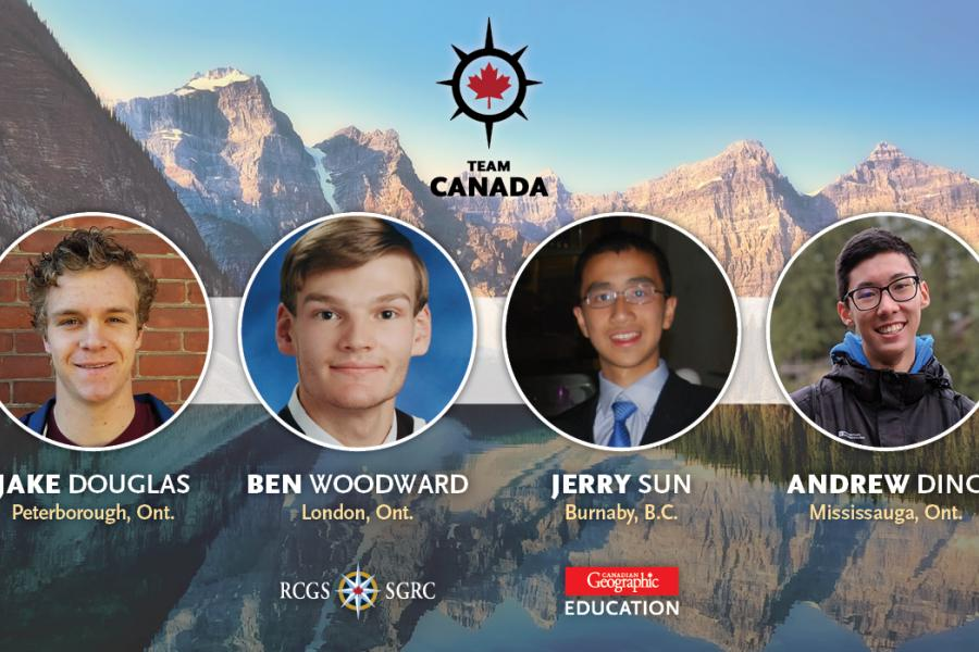 Team Canada for International Geography Olympiad 2019