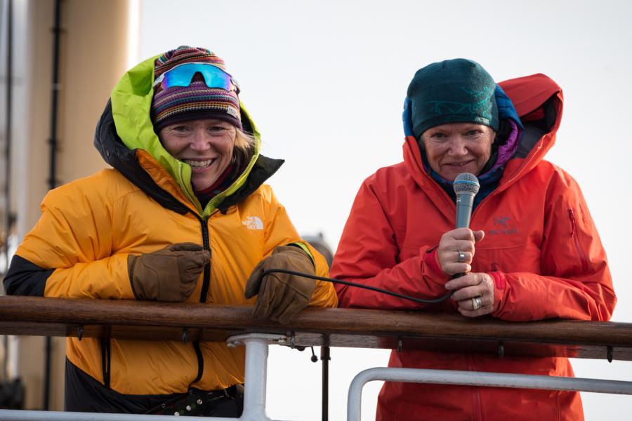 Two female adventurers prepare to overwinter in Svalbard