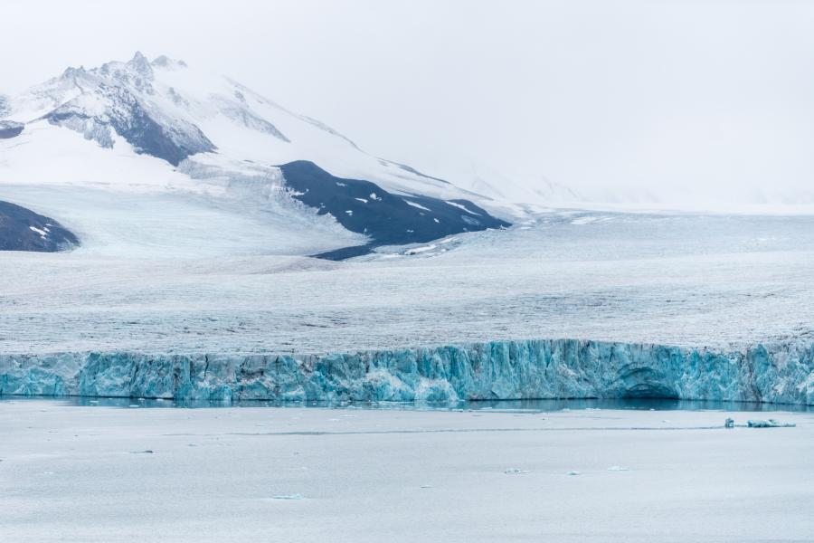 Glacier on Svalbard, Norway