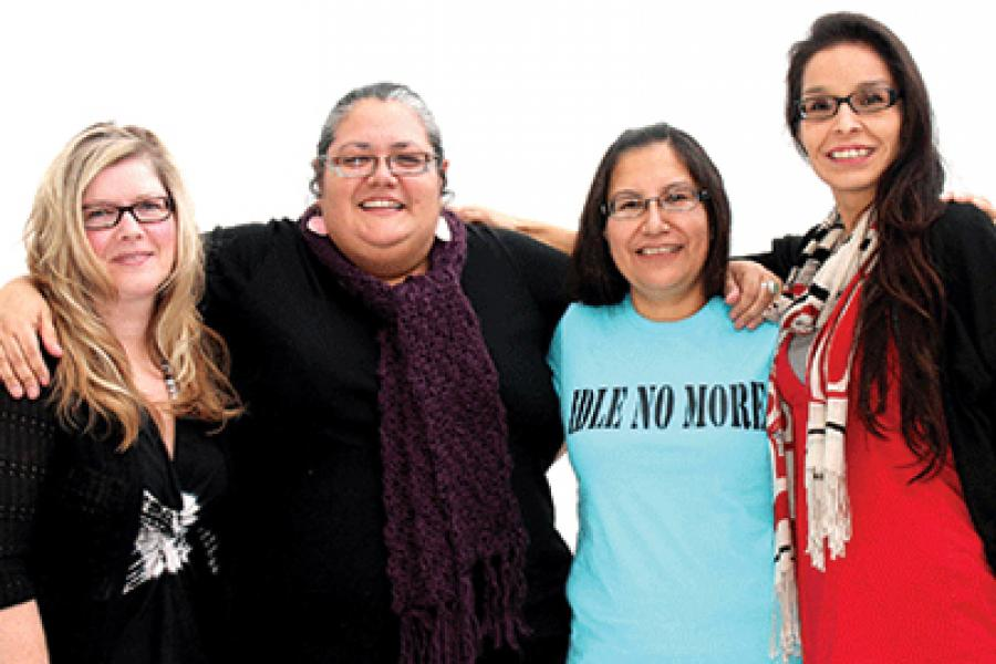 Sheelah McLean, Nina Wilson, Sylvia McAdam and Jessica Gordon began the Idle No More movement last year