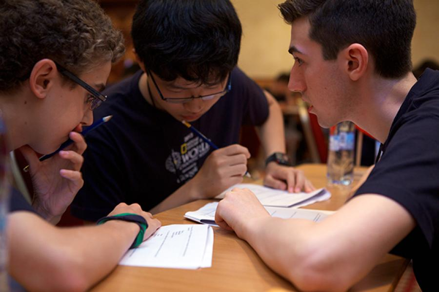 Jacob Burnley, Spencer Zhao and Kyle Richardson represented Canada at the National Geographic World Championship