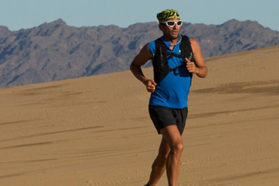 Ray Zahab recently ran more than 2,000 kilometres across Mongolia's Gobi Desert.
