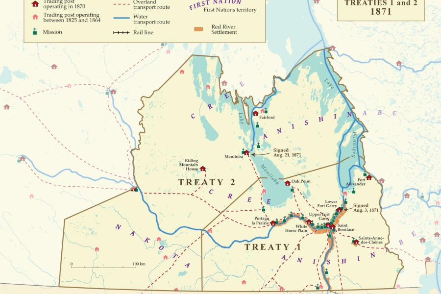 Map of treaties 1 and 2