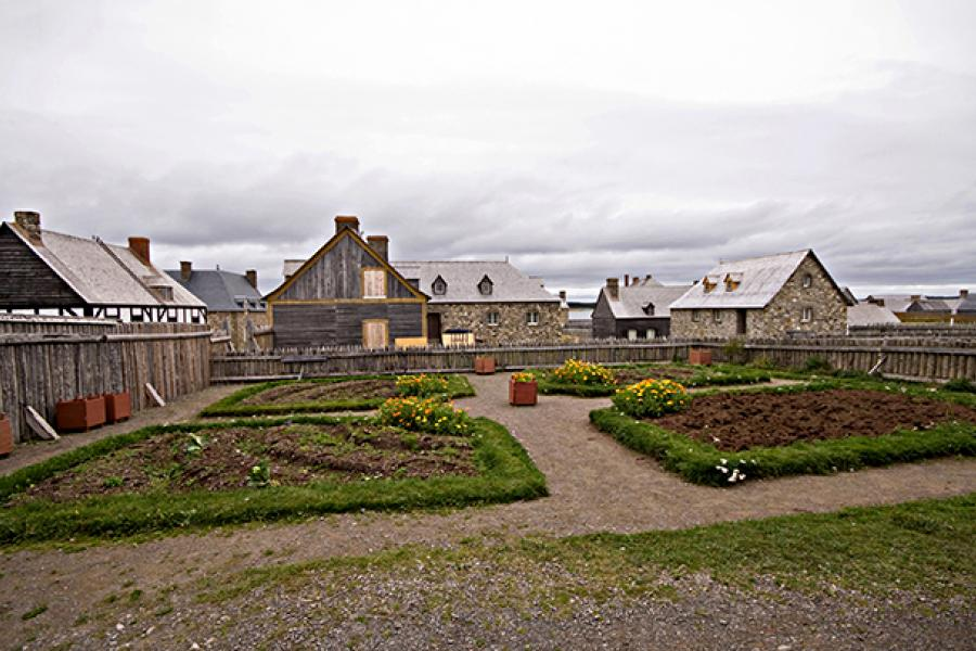 Food from the Louisbourg gardens helped feed the soldiers, fishermen, merchants, artisans and servants who lived there