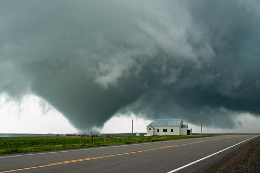 A tornado touches down in South Dakota